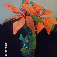 Lillies For Sally. My best friend has been a constant support and cheer leader for me to learn all I can with cake decorating. As a thank you I made her a...