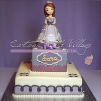 Princess Sofia's Cake The topper is entrirely handmade in sugarpaste