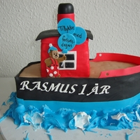 Rasmus Klump Danish cartoon caracter Rasmus Klump. I need some more practice when it comes to this kind of cake, but it turned out ok.