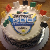 Daytona 500 Fondant decorated