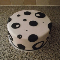 Spots My first circles and dots cake.