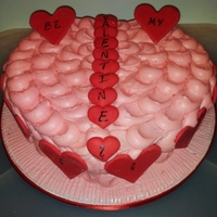 Heart Chaped Valentines Cake Heart shaped valentines cake made for my hubby!