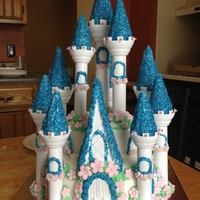 Cinderella Castle Cake Cake was made for a child's birthday that was cinderella themed.