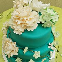 Green-Blue Wedding Cake