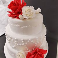 Wedding Cake Red/white