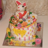 My Granddaughters First Easter Cake