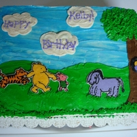 Classic Winnie The Pooh Classic Winnie the Pooh characters, frozen buttercream transfers (struggled with these this time), buttercream piping on everything else,...