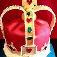 "King Of Our Hearts This birthday cake was made for my husband. He is truly a ""king"" in our hearts."