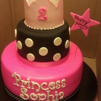 Princess Cake This cake was made for a beautiful princess named Sophia. She allowed me to be her Icing Smiles Angel. God bless you Sophia.