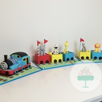3D Thomas Cake I really had fun making this Thomas cake! It is all made of cake and fondant.