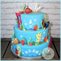 Nemo Cake With Dory And Bloat1