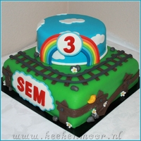 Thomas De Trein Taart / Thomas The Tank Engine Cake