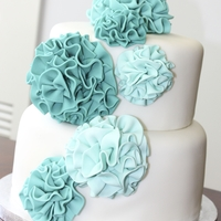 Pom Pom Cake I love SophieBifieldCakeCompany's purple pom cake, so I made a teal version...I have a lot to learn before I can even come close to...