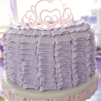 Ruffled Princess Cake This was just a simple buttercream ruffle cake I made for my 4 yr old's birthday party...I tried out something new though and made my...