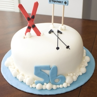 Ski Lover's Cake This was a birthday cake for my FIL. I loved Patisseriejaja's Ski Mountain cake, so I attempted to make a similar one. I was running...