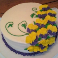Pansy Cake Cake made for Wilton Class 2