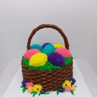 Easter Basket Cake Butter cream, royal icing, silicon egg mold, basket weave, Easter