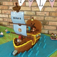 Pirate Ship Cake Pirate ship cake