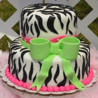 Zebra Cake fondant covered cake