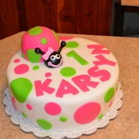 Lady Bug Cake Fondant covered