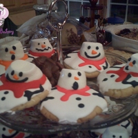 Melting Snowmen   melting snowmen cookies