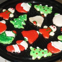 Cookies Cookies covered with icing
