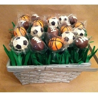 Sports Cake Pops Basket