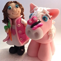 Pink Pony Vanilla sponge with sugar paste detail. The mother of the little girl was filled with joy when she saw the cake, it's such a...