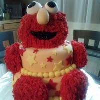 Elmo Birthday Cake Thought he turned out cute, who doesn't love Elmo????
