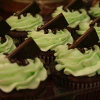 Andes Mint Cupcakes Got this from Pinterest...