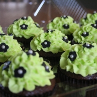 Lime Green With Black Fondant Flowers