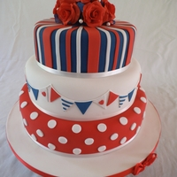 Pokadots Bunting And Red White And Blue Stripes