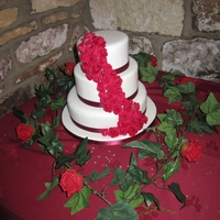 Cascading Roses Wedding Cake I completed my first ever wedding cake last week... here it is!