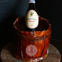 Beer Bottle Cake The beer bottle is made out of Isomalt—my first time to work with it. It wasn't as daunting as I imagined it would be....
