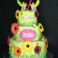 Garden-Fairy Themed Cake For Kamille  A Cake I finished in record time, 6 hours… :) ... What saved me really was using candy clay (wilton candy melts + corn syrup)...
