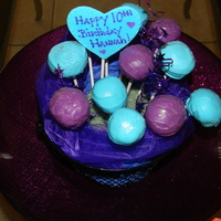 Purple And Blue Cake Pops   purple and blue cake pops