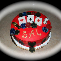 Casino Themed Birthday Cake   Casino themed birthday cake.