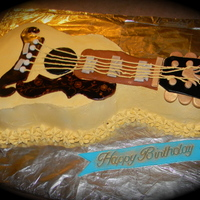 Gibson Birthday Guitar Cake Gibson birthday guitar cake