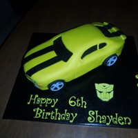 Chevy Camaro Bumblee Cake  Made for my son's 6th birthday. He wanted one like Cake Boss where bumblee is transforming but I wouldn't even know where to...