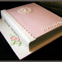 Bible Cake Bible Cake made for a young girl celebrating her first Holy Communion.