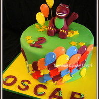Barney The Dinosaur Cake For Oscar's 2nd Birthday