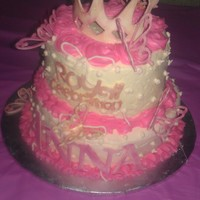 Royal Princess Birthday Cake Two Tier Also Made With Cricket Cake Royal princess birthday cake two tier, also made with cricket cake
