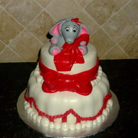 Baby Elephant Baby Shower Cake Strawberry Cake With Buttercream Icing Covered With Fondant Baby elephant baby shower cake. Strawberry cake with buttercream icing covered with fondant.