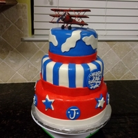 Airplane Themed Cake three tier airplane cake