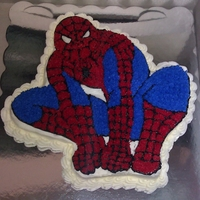 Spiderman For Dylan Spiderman character cake I made for my friend's 4 years old son. The cake had so many bubbles in it, I couldnt see the lines and had...