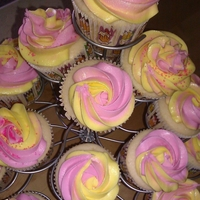 Raspberry Lemonade Cupcakes! Raspberry lemonade cupcakes I made on a hot sunny Arizona day. They went very quick! Recipe adapted from a blog: http://www.ericasweettooth...