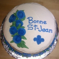 Bonne St-Jean! St-Jean Baptiste cake I made during my Wilton Course 1