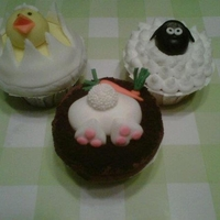Easter Cupcakes Fondant and Buttercream