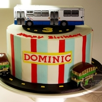 3Rd Bithday Sydney Bus Our Birthday boy loves Sydney buses! So, we created an edible bus for the top of his cake. Vanilla Cake with Vanilla White Truffle...