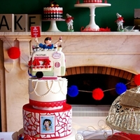 A Very Retro 40Th Birthday I created this cake for a very good friend of mine and a fellow caker Nicci from Cupcakes in Camden. She is a Kiwi with a passion for...